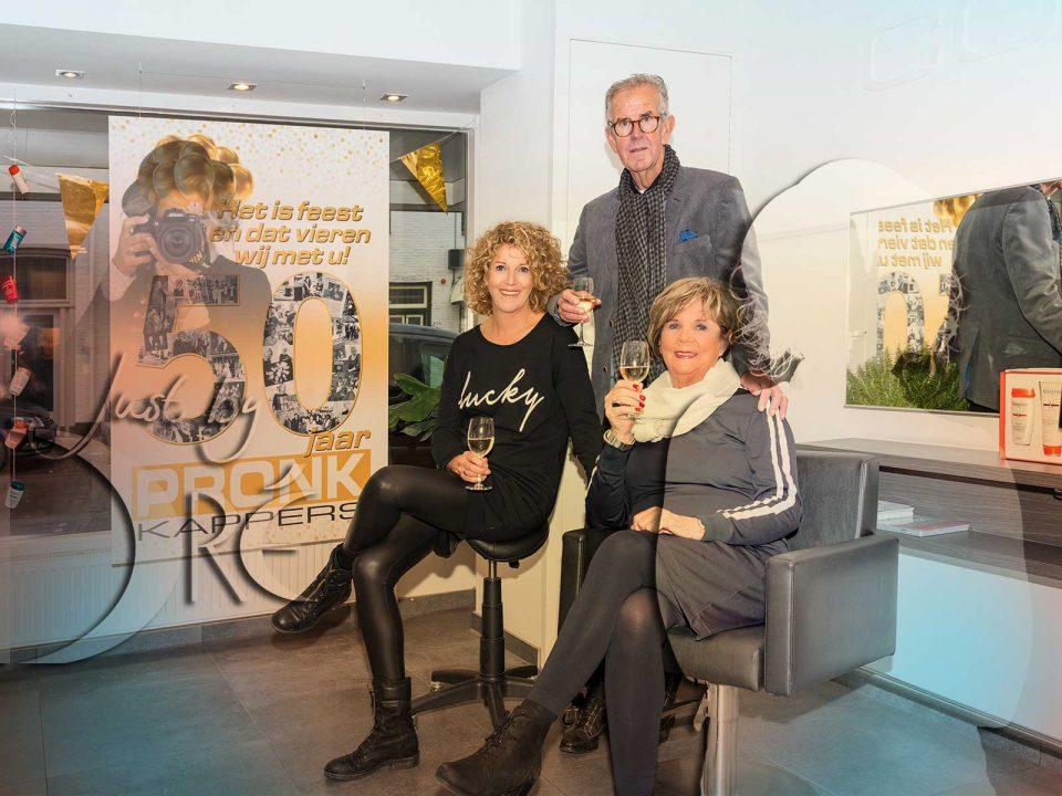 Pronk Kappers 50 jaar fotografie op locatie voor persbericht