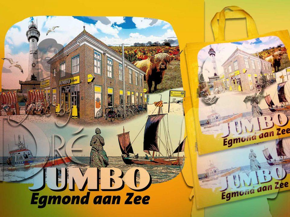 Dre Design jumbo shopper illustratie ontwerp